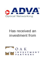 Adva Optical Networking has received an investment from OAK Investment Partners