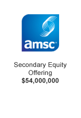 AMSC Secondary Equity Offering