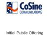 CoSine Communications Initial Public Offering
